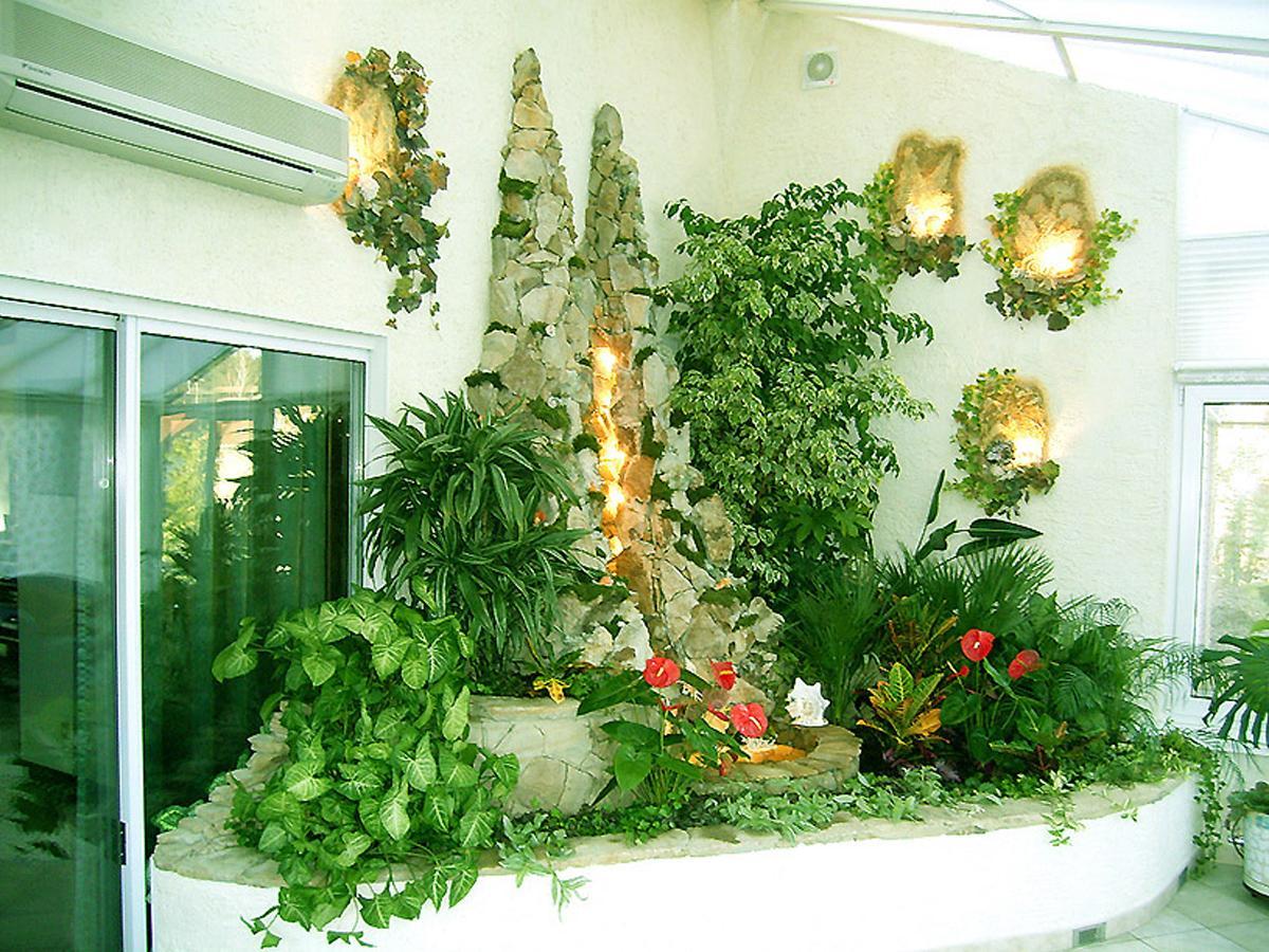 Как сделать зеленый уголок в гостиной